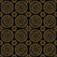 Abstract pattern tile in black color