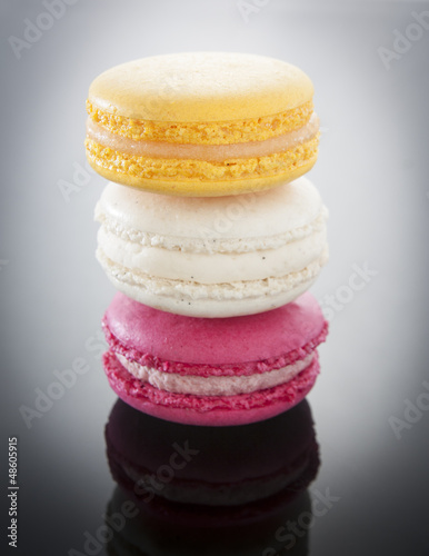 Colorful macaroons stacked
