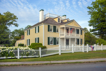 A 1790's federal style wood home.