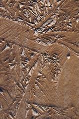Terre argileuse gelée