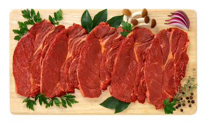 Fette di carne di cavallo - Steaks of horse meat