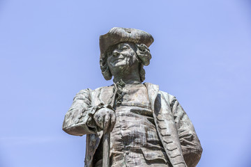 Statue of the Italian playwright Carlo Goldoni, Venice, Italy
