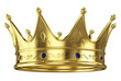 Gold crown isolated on white background - 48608347