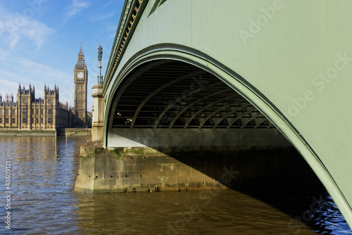 Westminster Bridge and Elizabeth Tower in London