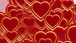 flying hearts background animation, valentine's day,  luma matte