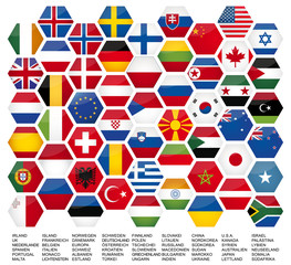 Vector Iconset *** big flag set