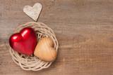 Fototapety Hearts in a basket
