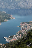 Bay of Kotor and historic town of Kotor, Montenegro