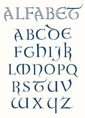 Lombardic Capital Alphabet