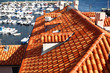 Famous red tiled rooftops in Dubrovnik, Croatia