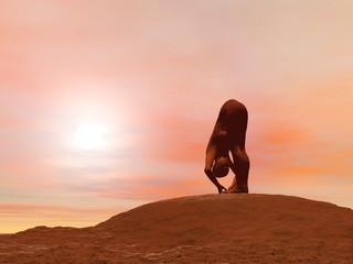 Big toe pose, padangusthasana - 3D render
