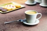 Naklejka Cafe con pastas