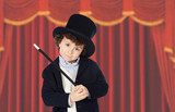 Adorable child dress of illusionist with hat