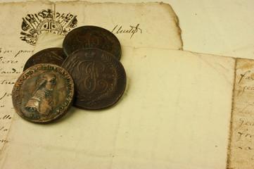Manoscritto e monete