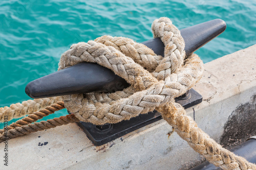 Mooring Bollard with rope