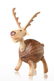 Cute handicraft wooden deer piggy bank