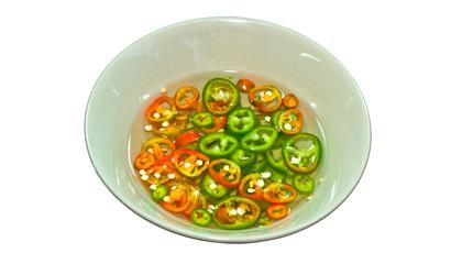 Sliced Chili in Vinegar