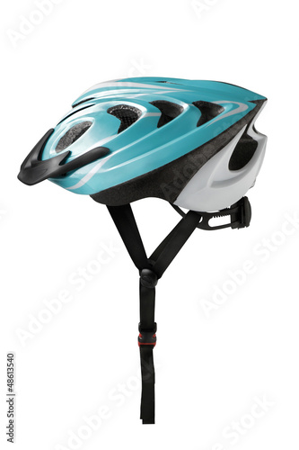 Bicycle safety helmet on white