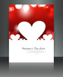 Wedding heart brochure card vector