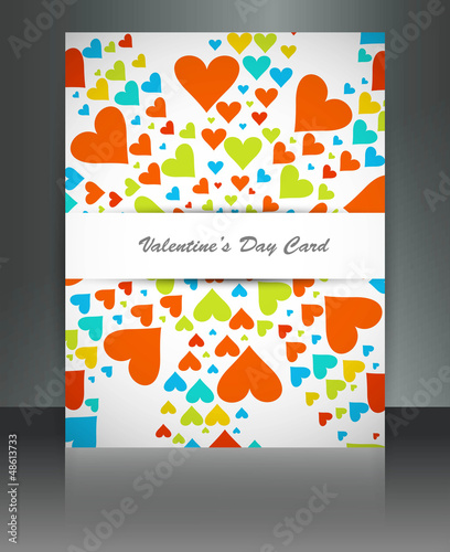 Beautiful Valentine's Day brochure card