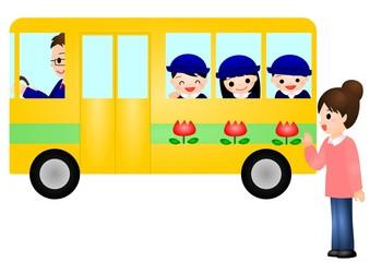 幼稚園バス ママ