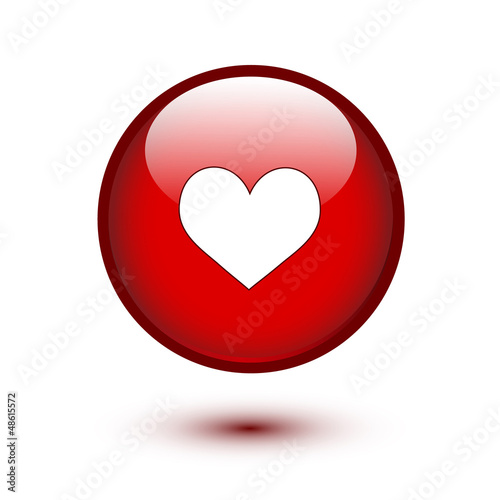 Heart shape on button