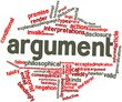 Word cloud for Argument