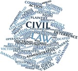 Word cloud for Civil law