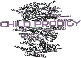 Word cloud for Child prodigy