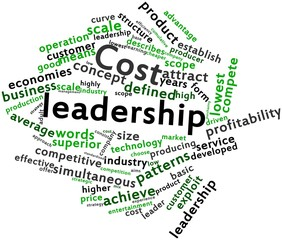 Word cloud for Cost leadership