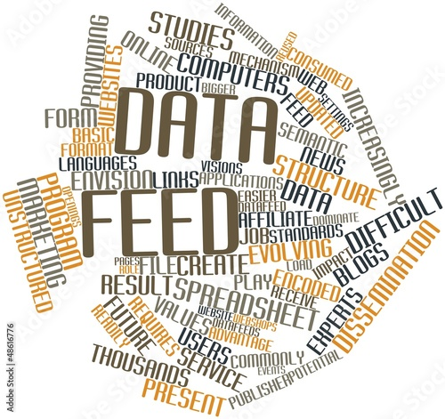 Leinwandbild Motiv Word cloud for Data feed