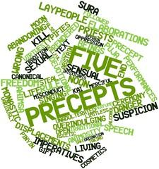 Word cloud for Five Precepts