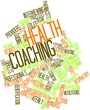 Leinwandbild Motiv Word cloud for Health coaching