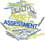 Word cloud for Health impact assessment poster