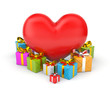 Heart with gifts