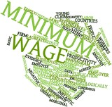 Word cloud for Minimum wage poster