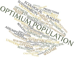 Word cloud for Optimum population