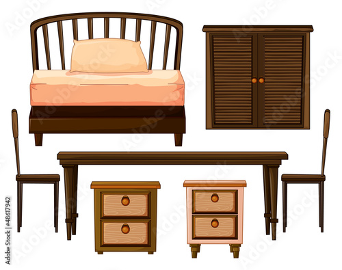 Furnitures made from woods