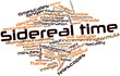 Word cloud for Sidereal time
