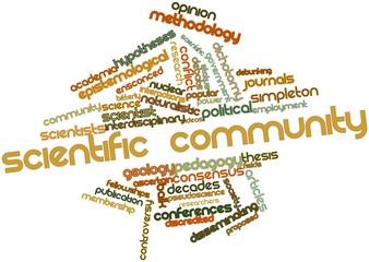 Word cloud for Scientific community