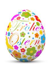 Osterei, Frohe Ostern, Osterkugel, Blumen, fröhlich, Ostergruß