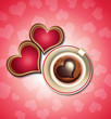 Valentine's Chocolate Hearts and Coffee