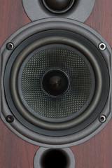 Close-up of the loudspeaker