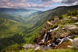 Fototapety Pancavsky waterfall in Krkonose mountain - Czech republic