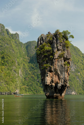 boat tour around James Bond Island, Phang Nga Bay, Thailand