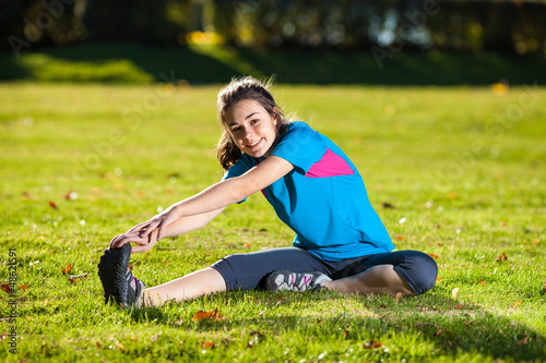 Woman exercising outdoor