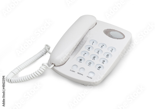 Telephone isolated on white background