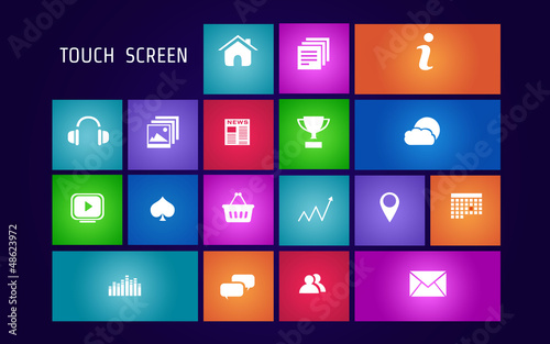 Kit Icones écran tactile