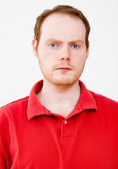 Real People Portrait: Serious red-haired Man