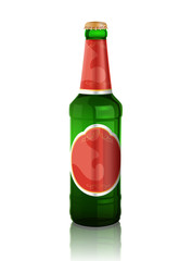 Vector illustration of beer bottle